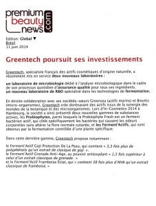 15-GREENTECH expansion-Premium Beauty News-11 June 2014