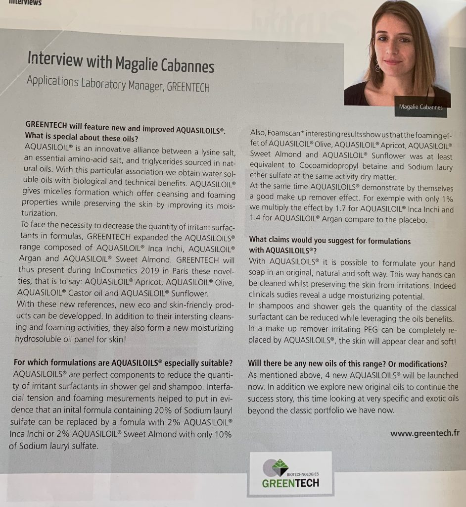 Article Magalie Cabannes sofw journal 2019