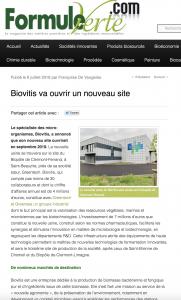 BIOVITIS va ouvrir un nouveau site
