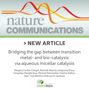 Nature Communication : Bridging the gap between transition metal- and bio-catalysis via aqueous micellar catalysis