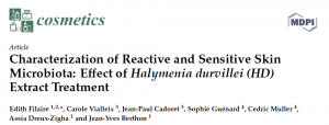 Cosmetics : Characterization of Reactive and Sensitive Skin Microbiota: Effect of Halymenia durvillei Extract Treatment
