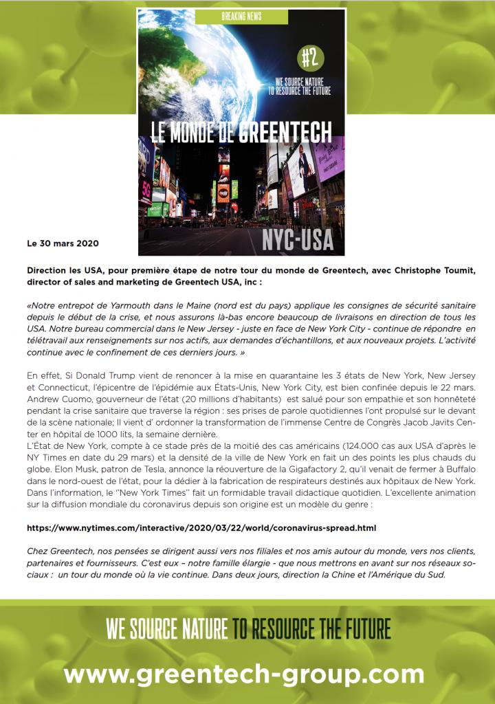 Greentech USA covid-19
