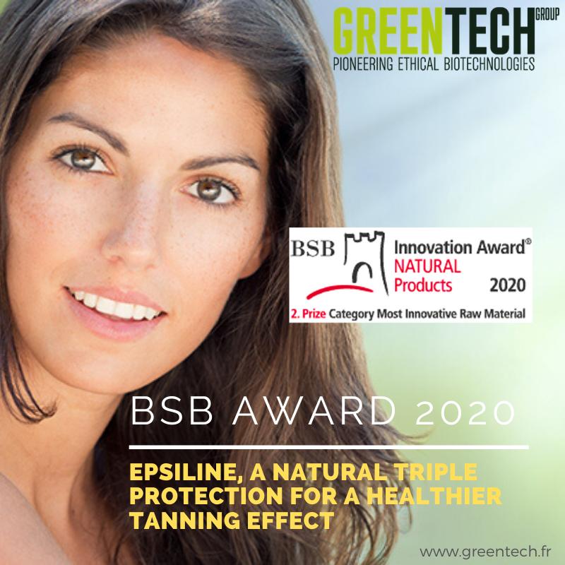 Um prêmio BSB para EPSILINE® greentech