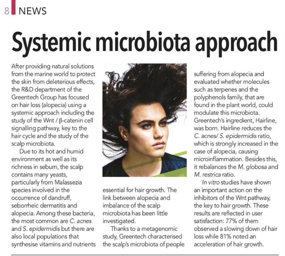 greentech hairiline microbiota