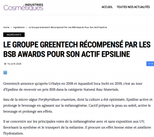 Greentech Epsiline prix BSB