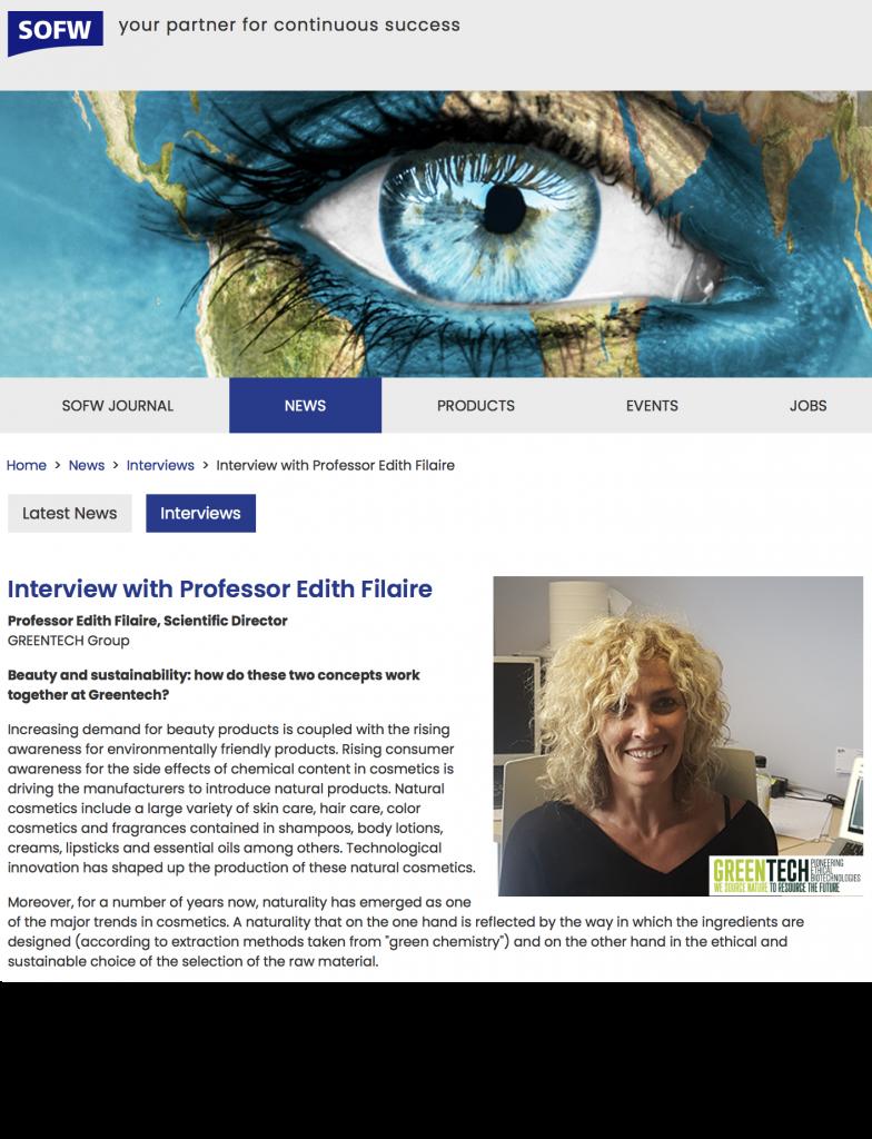 Greentech interview pr Edith filaire