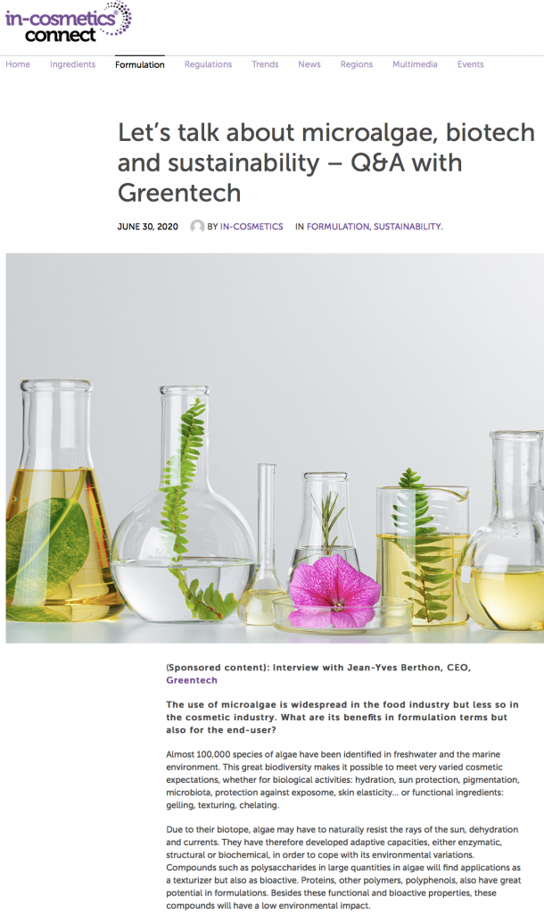 Greentech Incosmetics Connect
