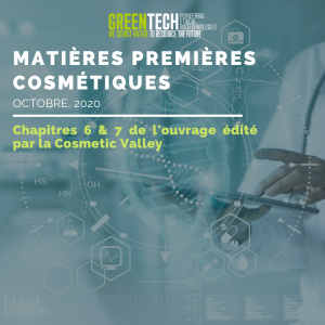 greentech biotechnologies ouvrage cosmetic valley