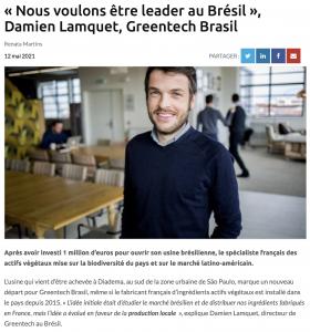 Greentech Brasil - Interview D Lamquet, country director