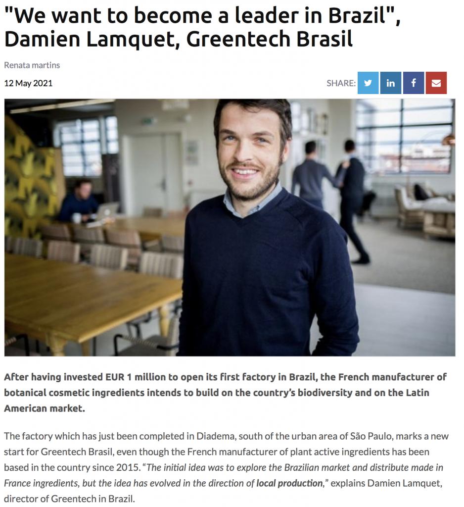 Greentech Brasil - Interview Damien Lamquet, country director