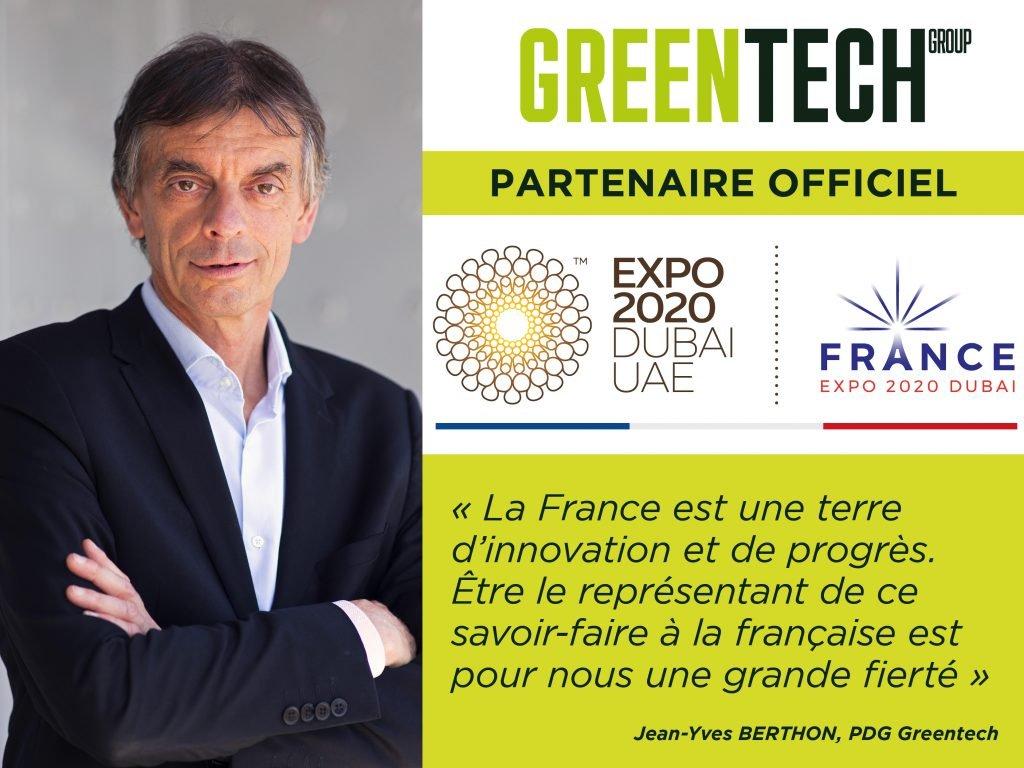 Greentech partenaire officiel de l'Exposition Universelle de Dubaï