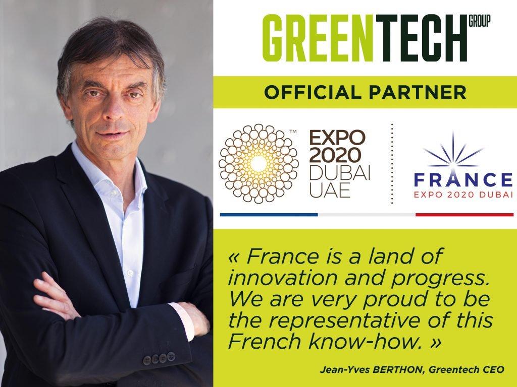 Greentech parceiro oficial da Exposição Universal de Dubai